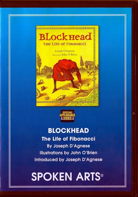 DVD cover of the classroom film version of Blockhead: The Life of Fibonacci by Joseph D'Agnese