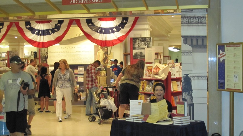 Author Denise Kiernan at book signing at National Archives, June 2011