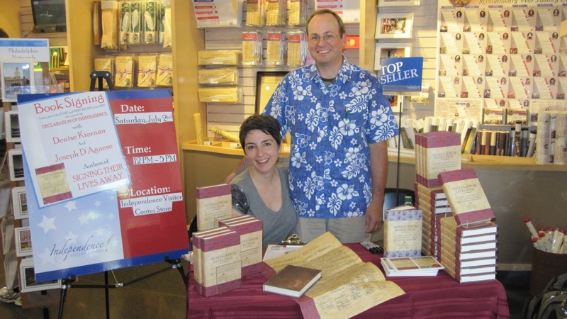 Author Denise Kiernan and Joseph D'Agnese