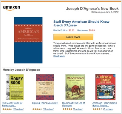 Amazon promo for Stuff Every American Should Know