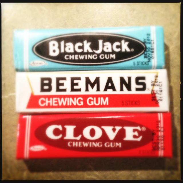 Black Jack Beemans Clove gums photo by Joseph D'Agnese