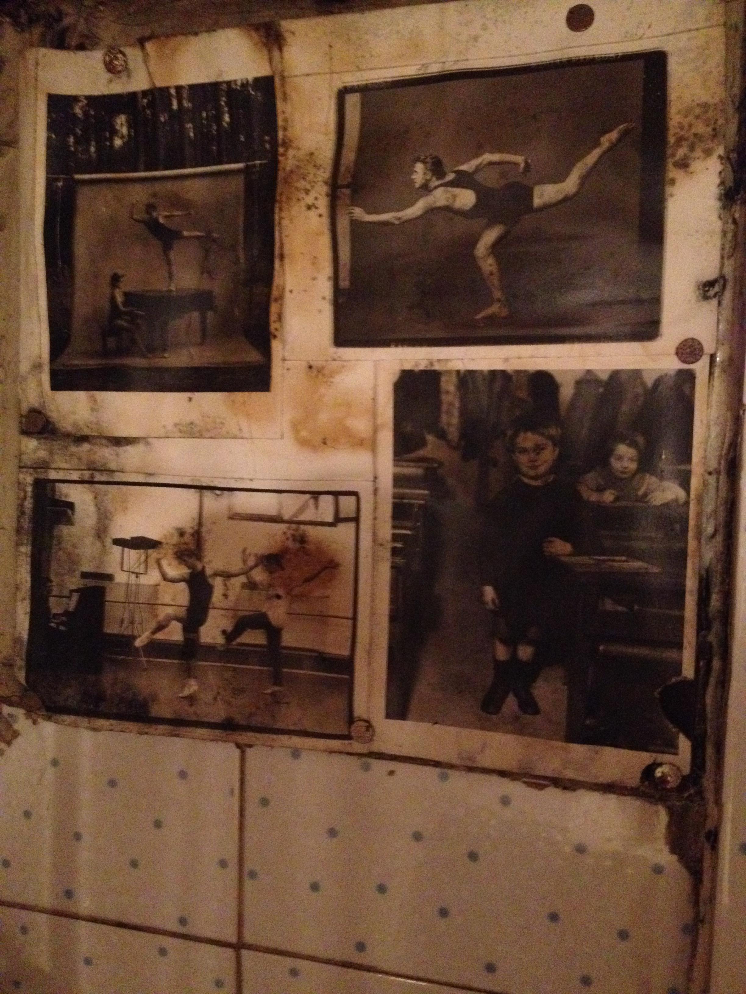 Photos of  Mikhail Baryshnikov by Annie Leibovitz found in a bathroom of a coffee shop in Seoul.