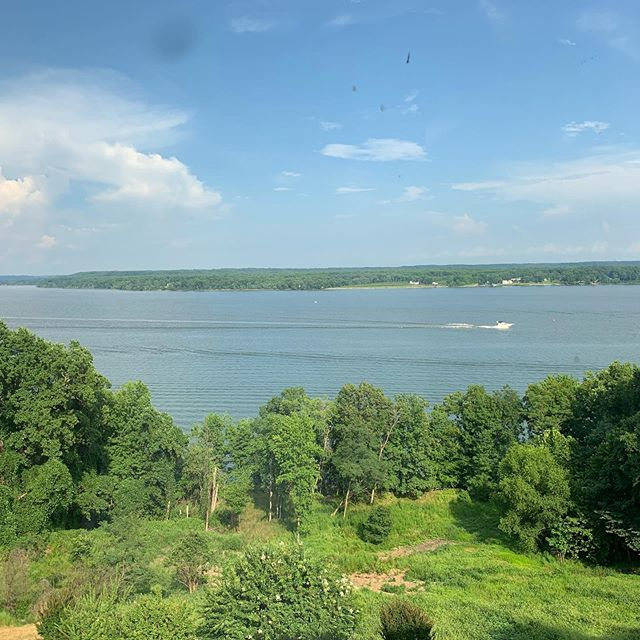 This was my view from the wedding this weekend at Fort Belvoir in Northern Virginia. The Officer's Club sits on the Potomac River. What made it especially interesting was watching a storm come down the river. In a few minutes of downtime I was able to leave my phone to record some of the lightning in slow mo! #ftbelvoir #potomacriver #wedding #virginia #storm #lightning #ftbelvoirofficersclub #southerncharmplanning #river #slowmo