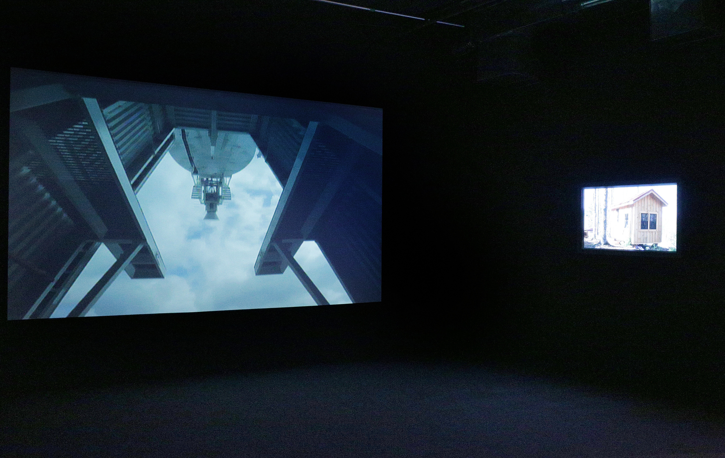 THE QUIET ZONE video installation at PIERRE FRANÇOIS OUELLETTE ART CONTEMPORAIN, MONTREAL, OCT 10-NOV 16, 2013. Part of the group show CONFLICT RESOLUTION ,curated by EDWARD MALONEY.  http://www.pfoac.com/Montreal/EM_2013_EN.html