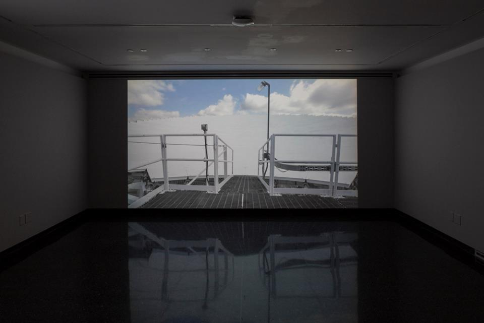 THE QUIET ZONE , video installation at the RYERSON IMAGE CENTRE, TORONTO, ON, SEPT 2016. Curated by Sarah Angelucci. (Photograph by Riley Snelling)
