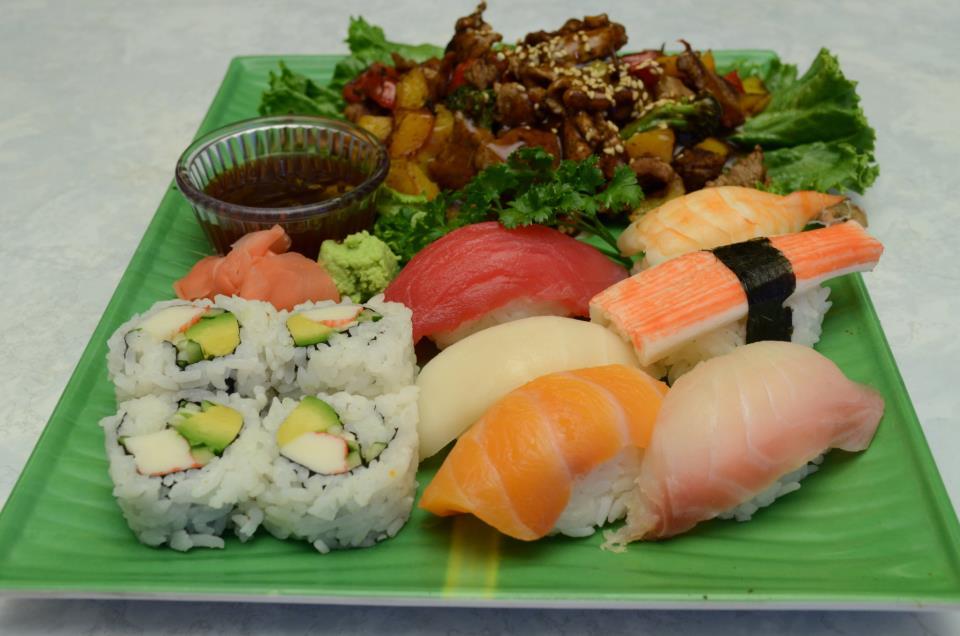 Sushi and Beef Teriyaki.jpg