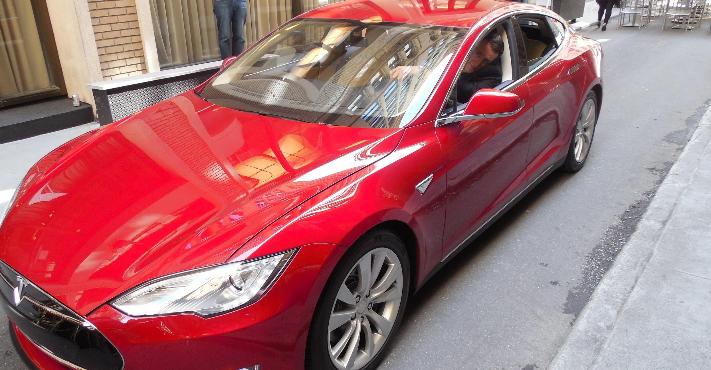 Driving a Tesla