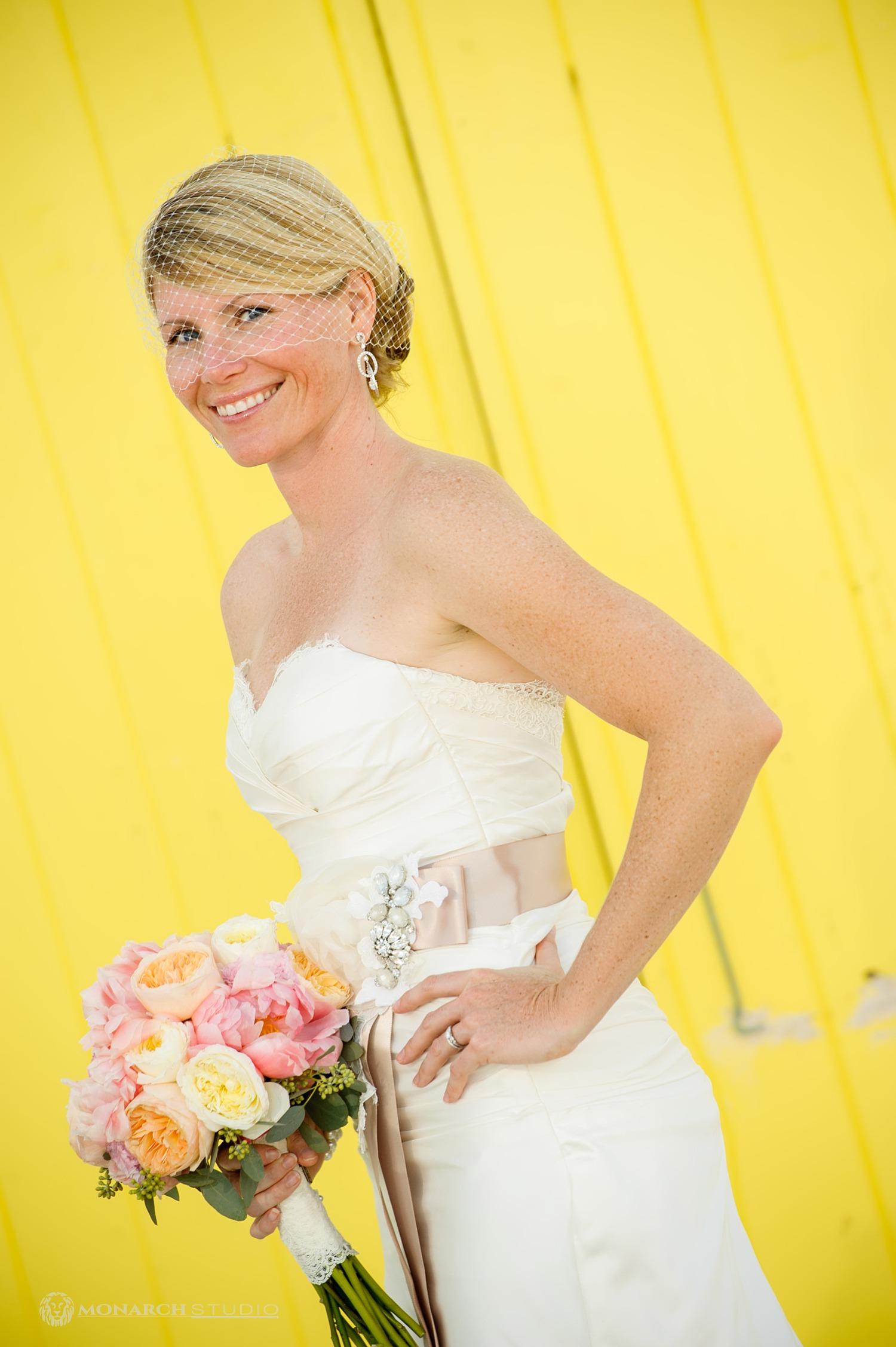 Bride Portrait in Hope Town Bahamas by Monarch Studio Wedding Photographer