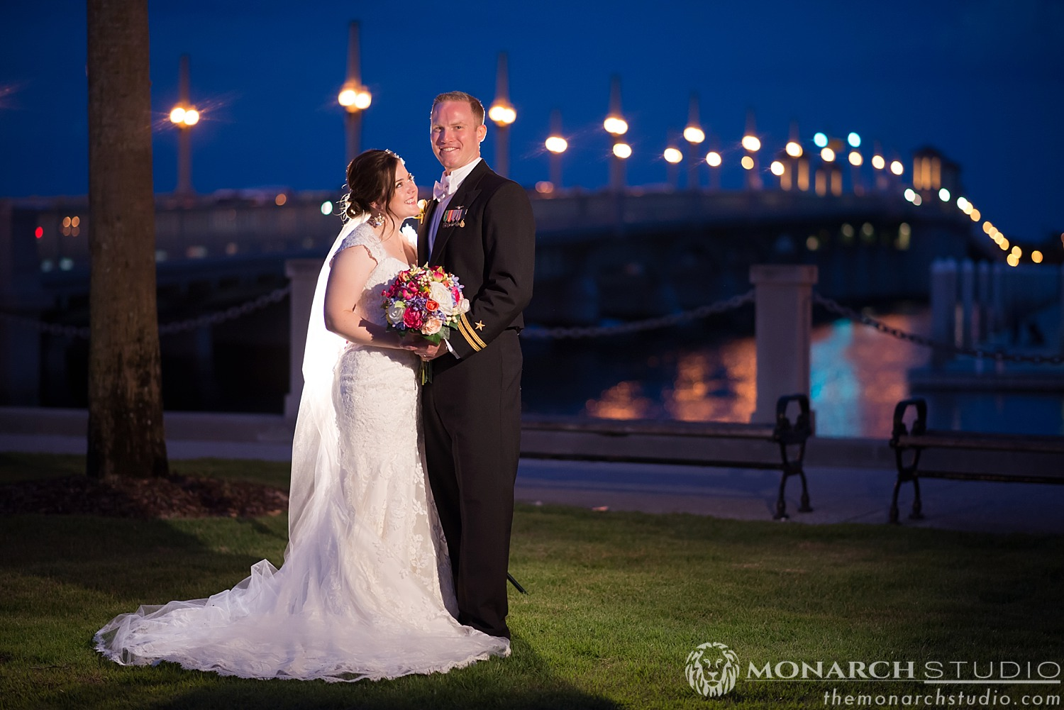 Wedding Photography at Night in St. Augustine Florida