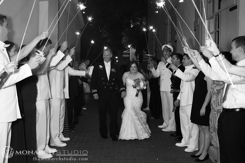 Sparkler Exit St. Augustine Wedding