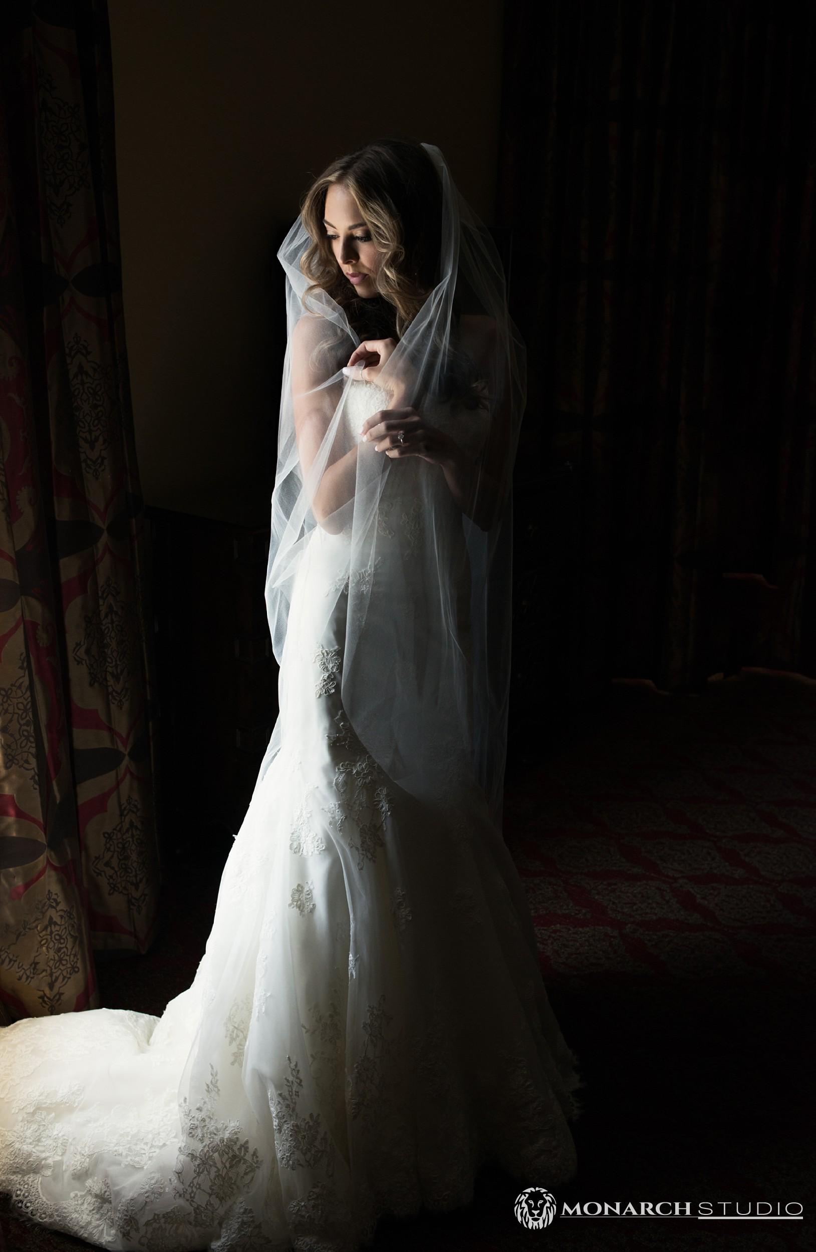 St. Augustine Wedding portrait of a bride at the Casa Monica Hotel.