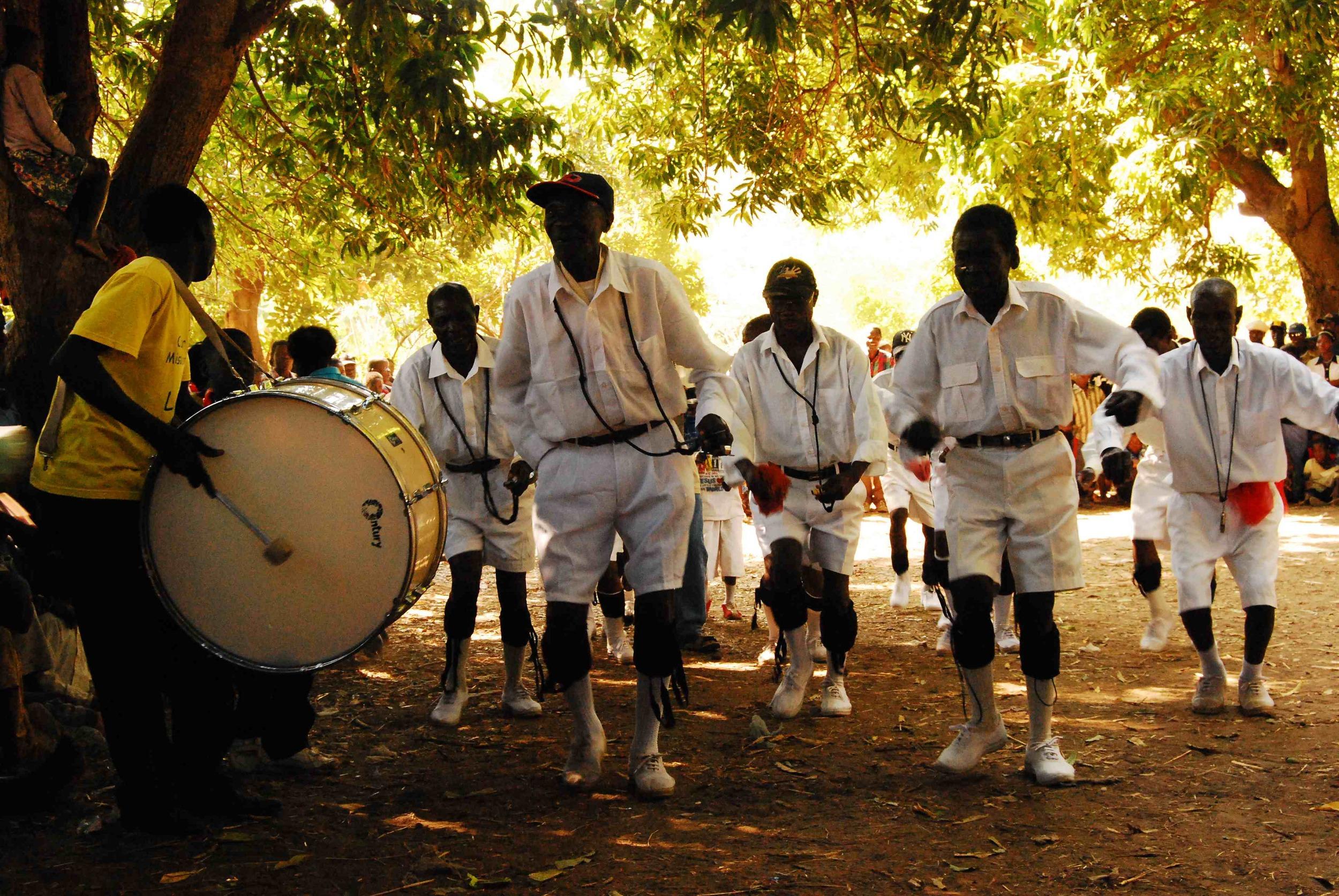 Malipenga a traditional tumbuka dance for men, Karonga District Malawi