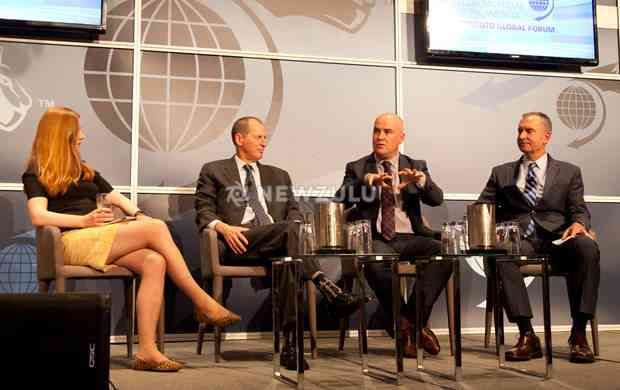 Hannah Kuchler, Gary Shapiro, me, and Paul Warrenfelt on stage at the Toronto Global Forum
