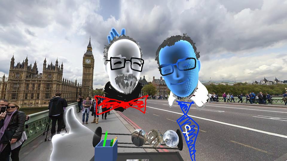 Social VR selfie shown at Facebook's recent F8 developer event