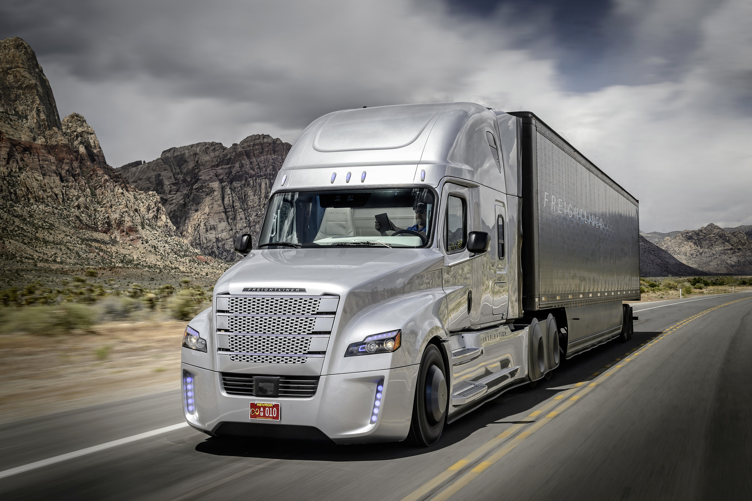The Freightliner Inspiration autonomous truck, in trials now