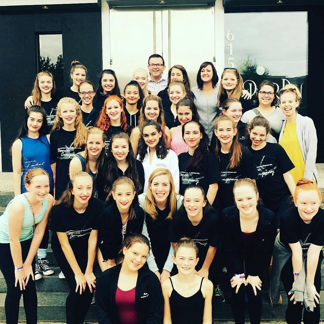 Junior, Teen, Senior dance company and their teachers.