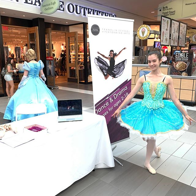 Come say Hi to us at the Back to School Fair today at the Coolsprings Mall! Our performance company will be performing at 12pm!  #fspadance #franklintn #franklinschoolofperformingarts #franklinmom #coolsprings #galleriamall #parentmagazine