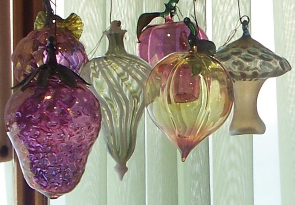 Glass Ornament  s made by Lorenzo Cristaudo