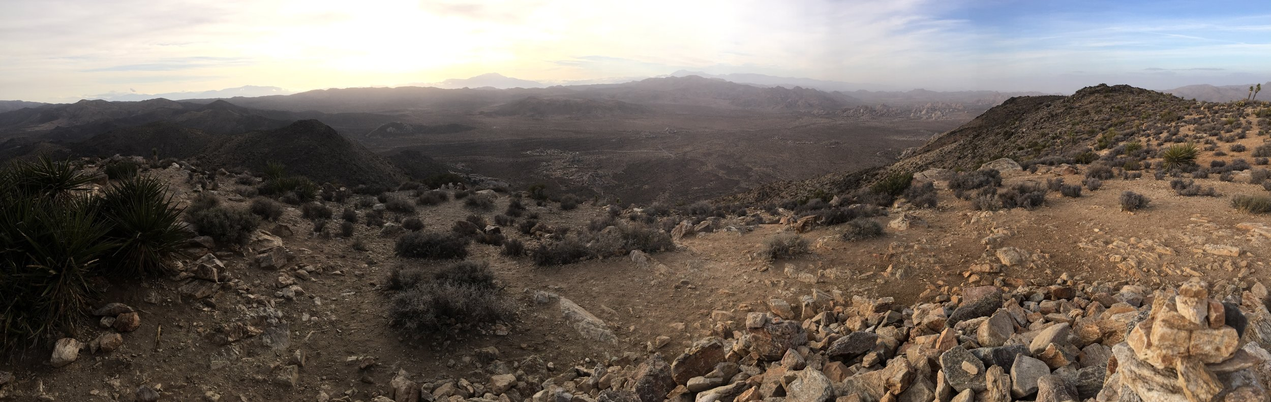Joshua Tree National Park overlook from atop Ryan Mountain