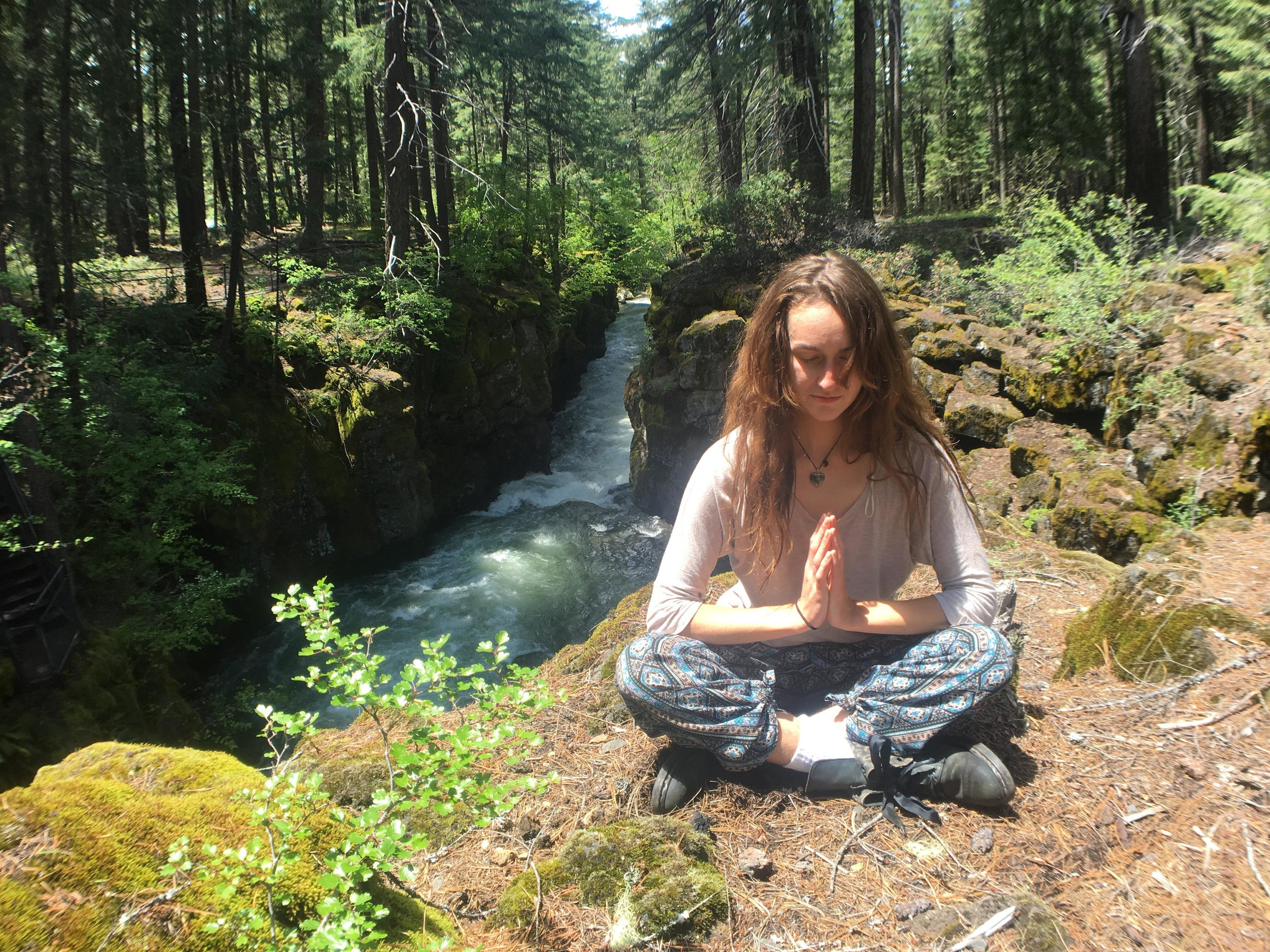 Liora (Catherine Rutan) at the Rogue River Gorge