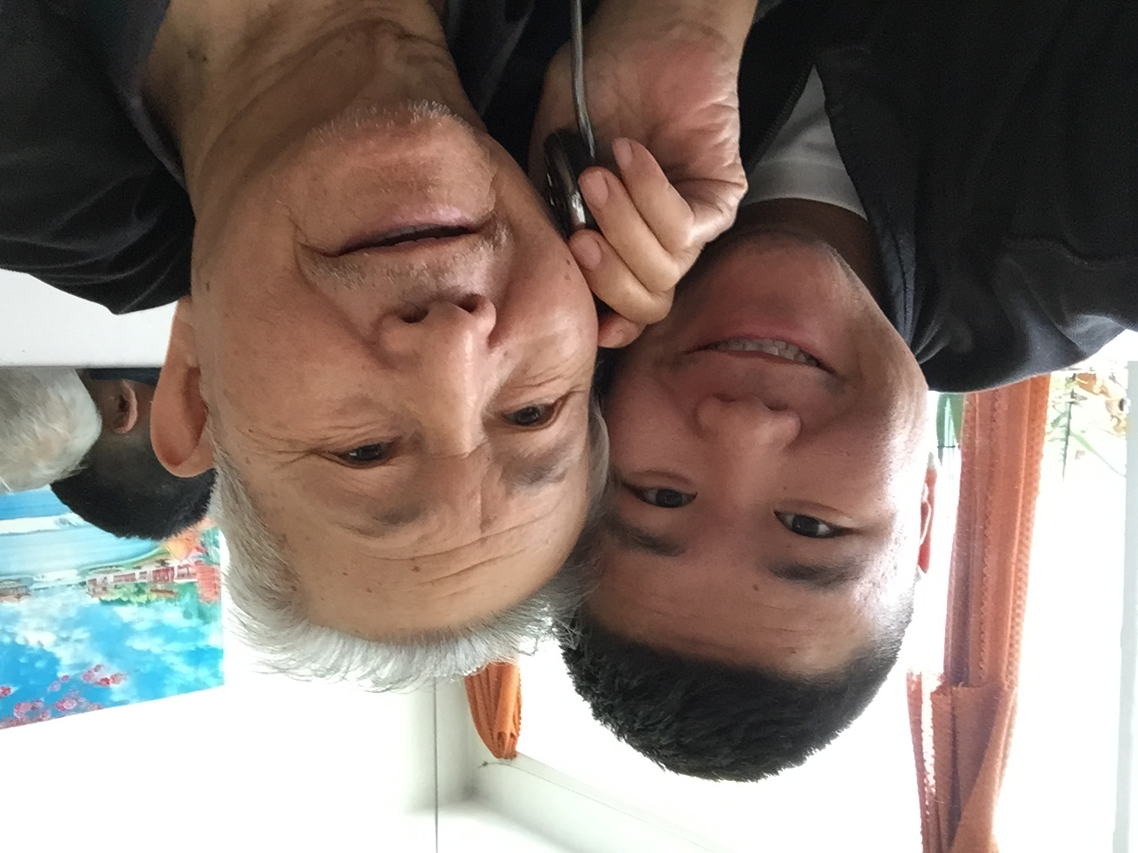 Me and the older Dr. Liu -my 85 year old grandfather.
