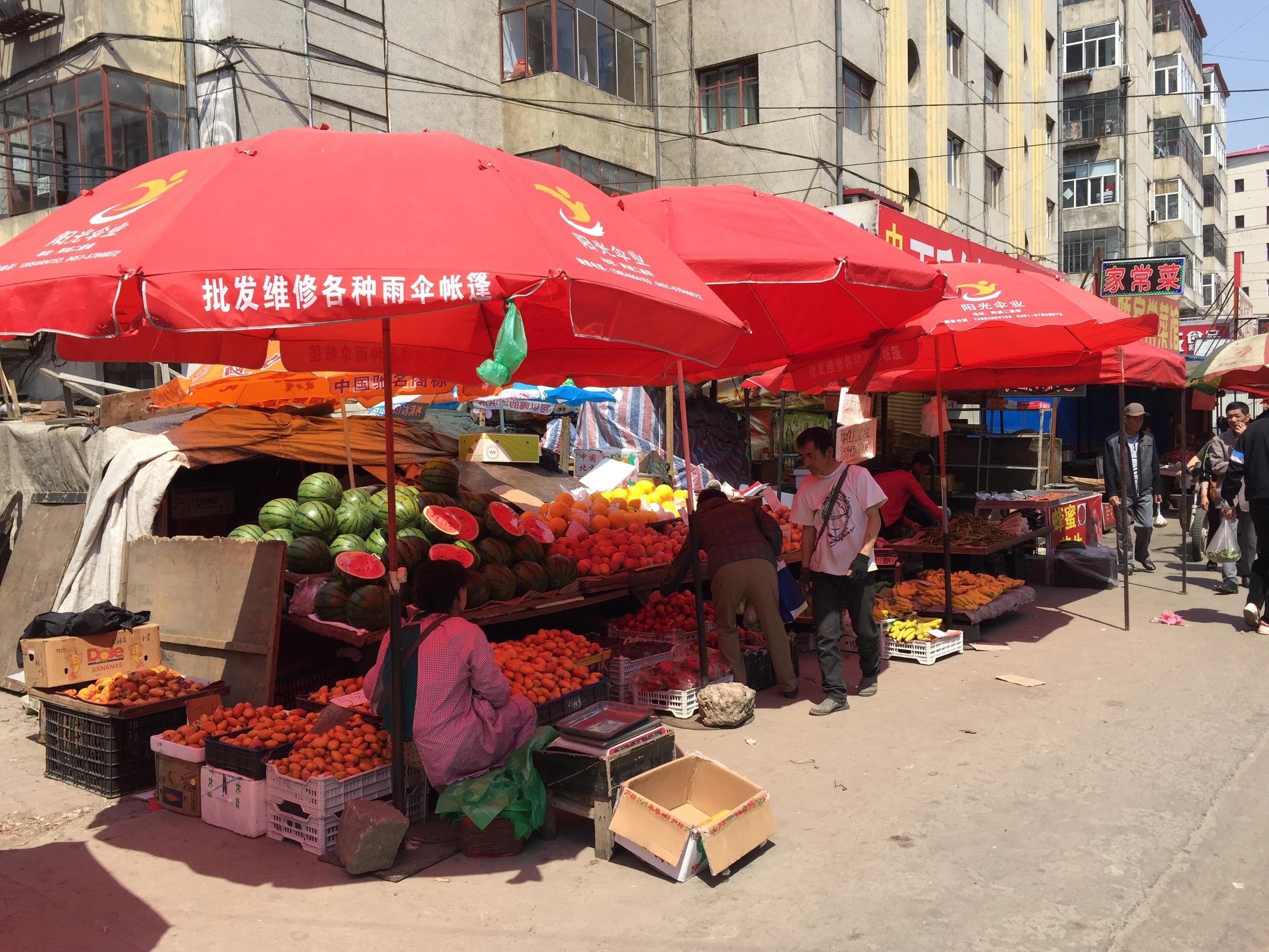 Chinese street market