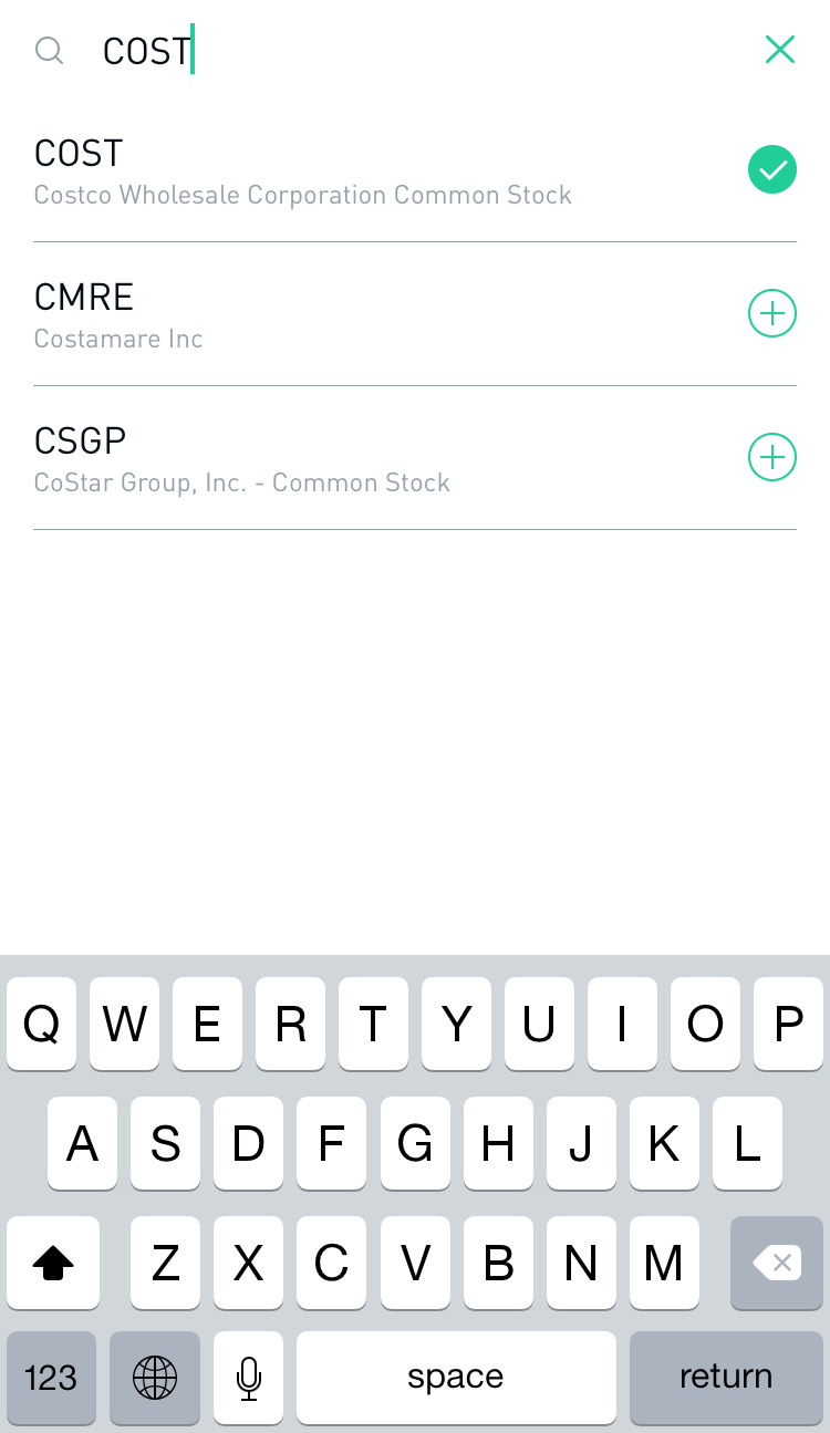 Search for a stock with ease