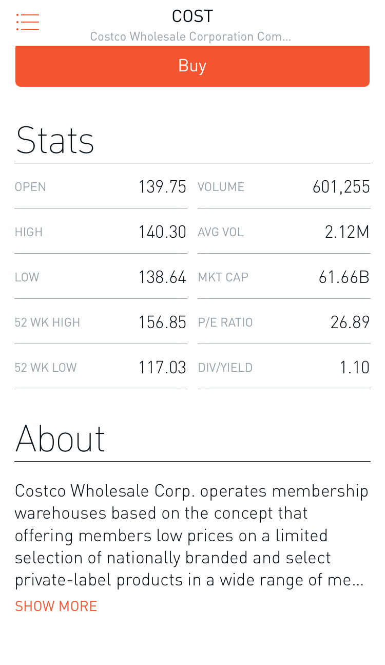 Stock Stats