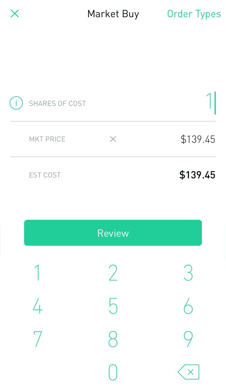 Buying Interface