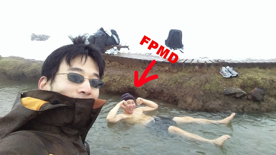 Your truly enjoying a dip in  Reykjadalur Hot Springs, ICELAND .