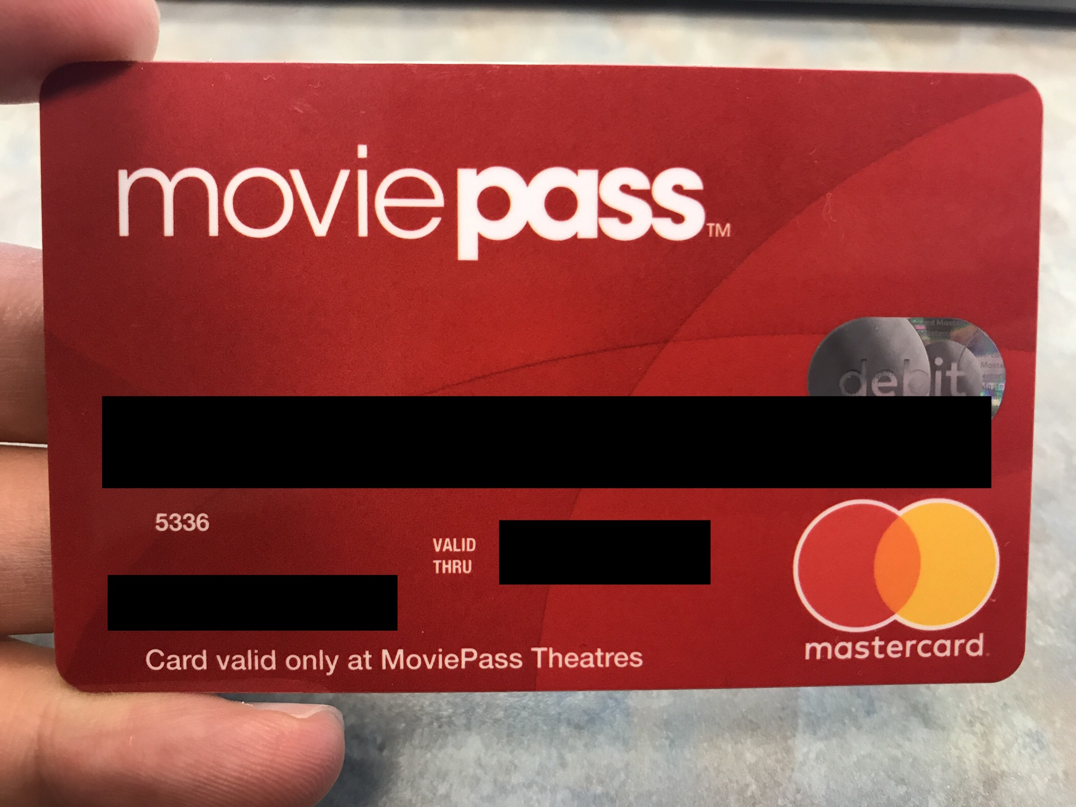 MoviePass Debit Mastercard