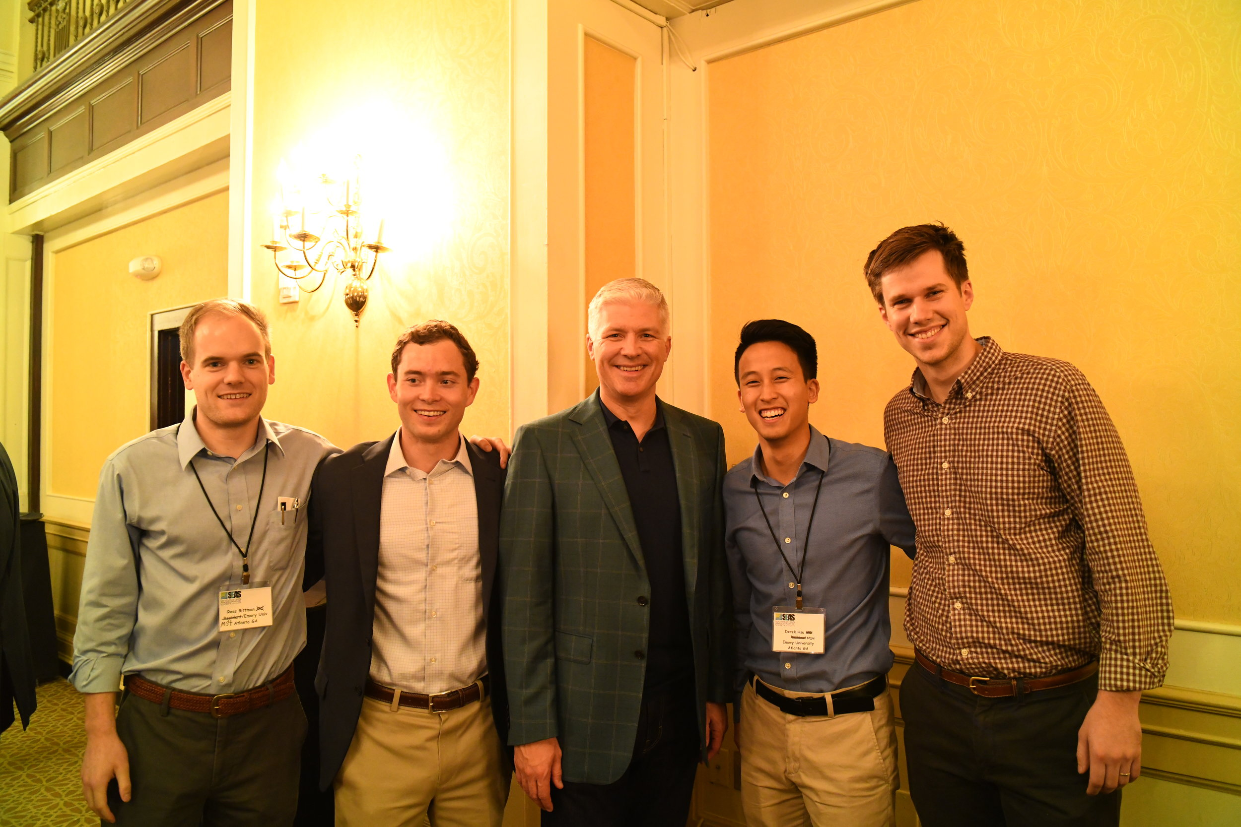 Dr. Mike Miller with medical students