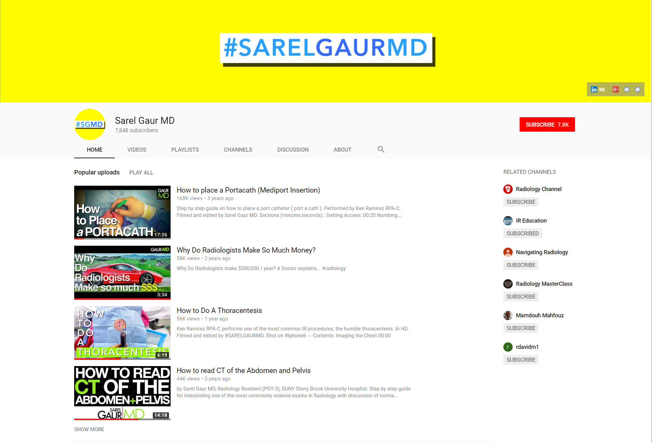 https://www.youtube.com/user/sarelgaurMD