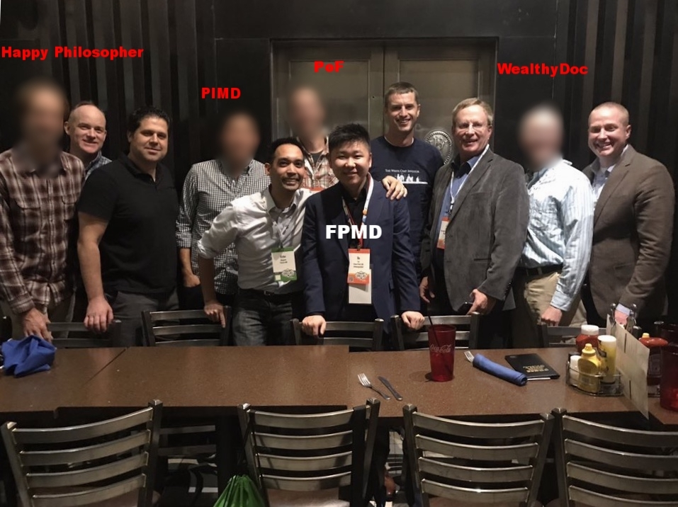 Hanging out with fellow physician money bloggers at  FinCon 17