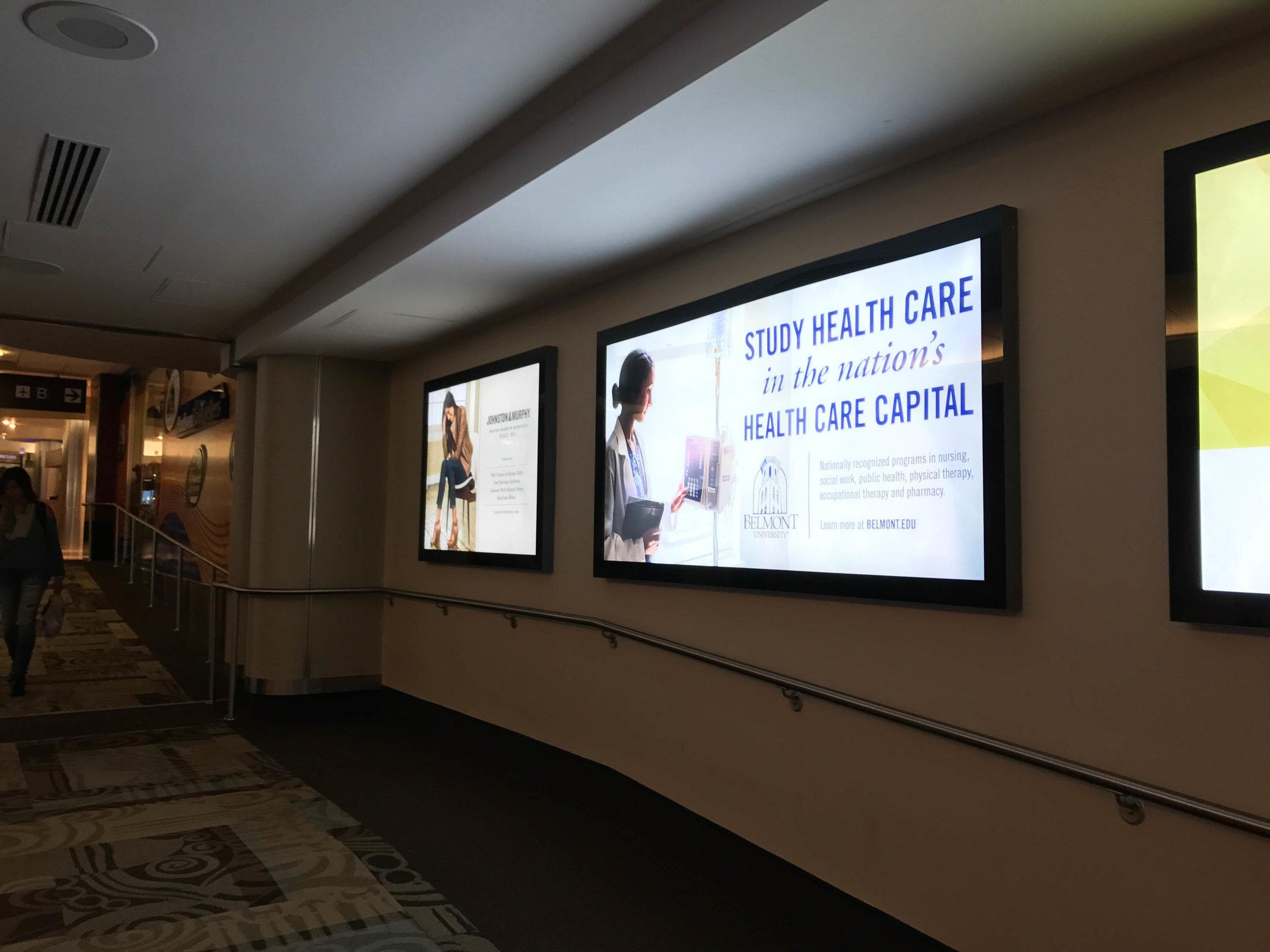 BNA Airport Backlit Marketing Boards