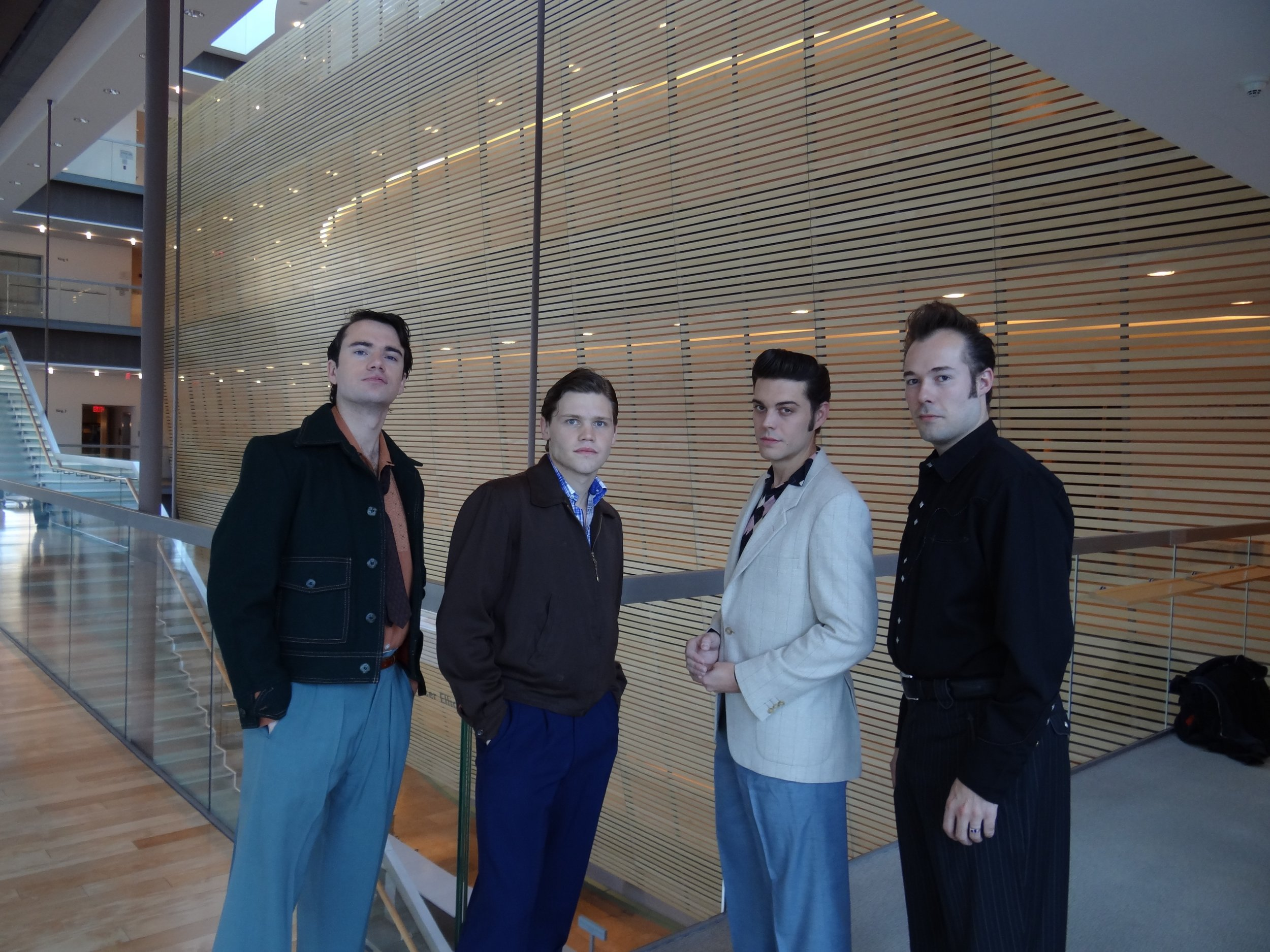 First National Tour Cast Before Their First Promotional Appearence - Toronto - 2011
