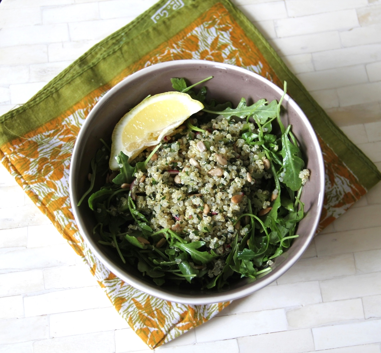 Spring quinoa tabouli and arugula salad 2
