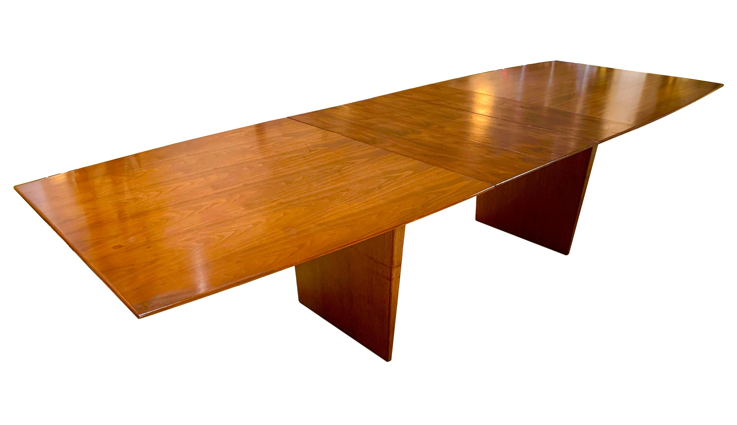 1971 Mid Century Modern Edward Wormley For Dunbar Dining Table With Three Leaves Scout Living