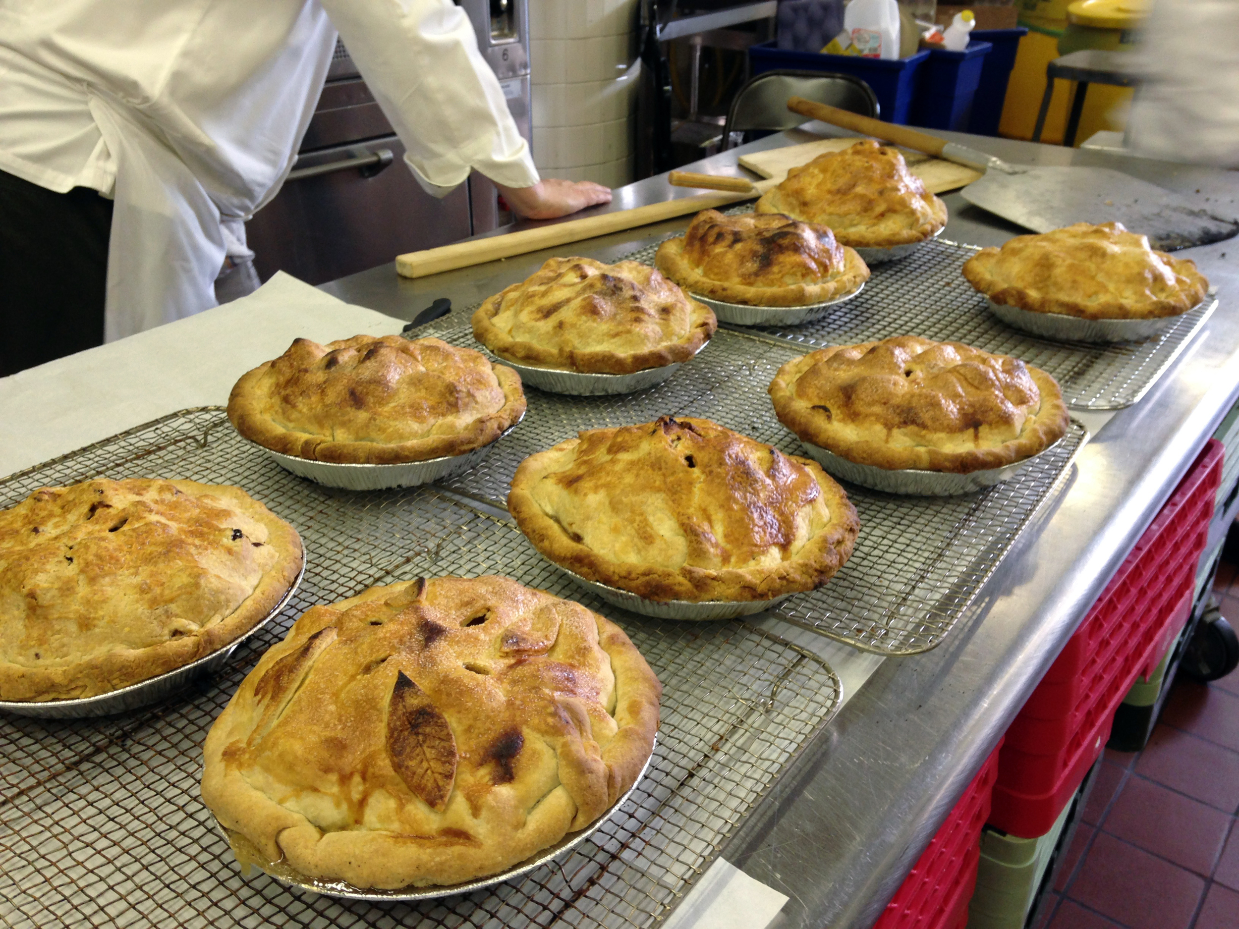 A kitchen full of hot apple pies is never a bad thing.