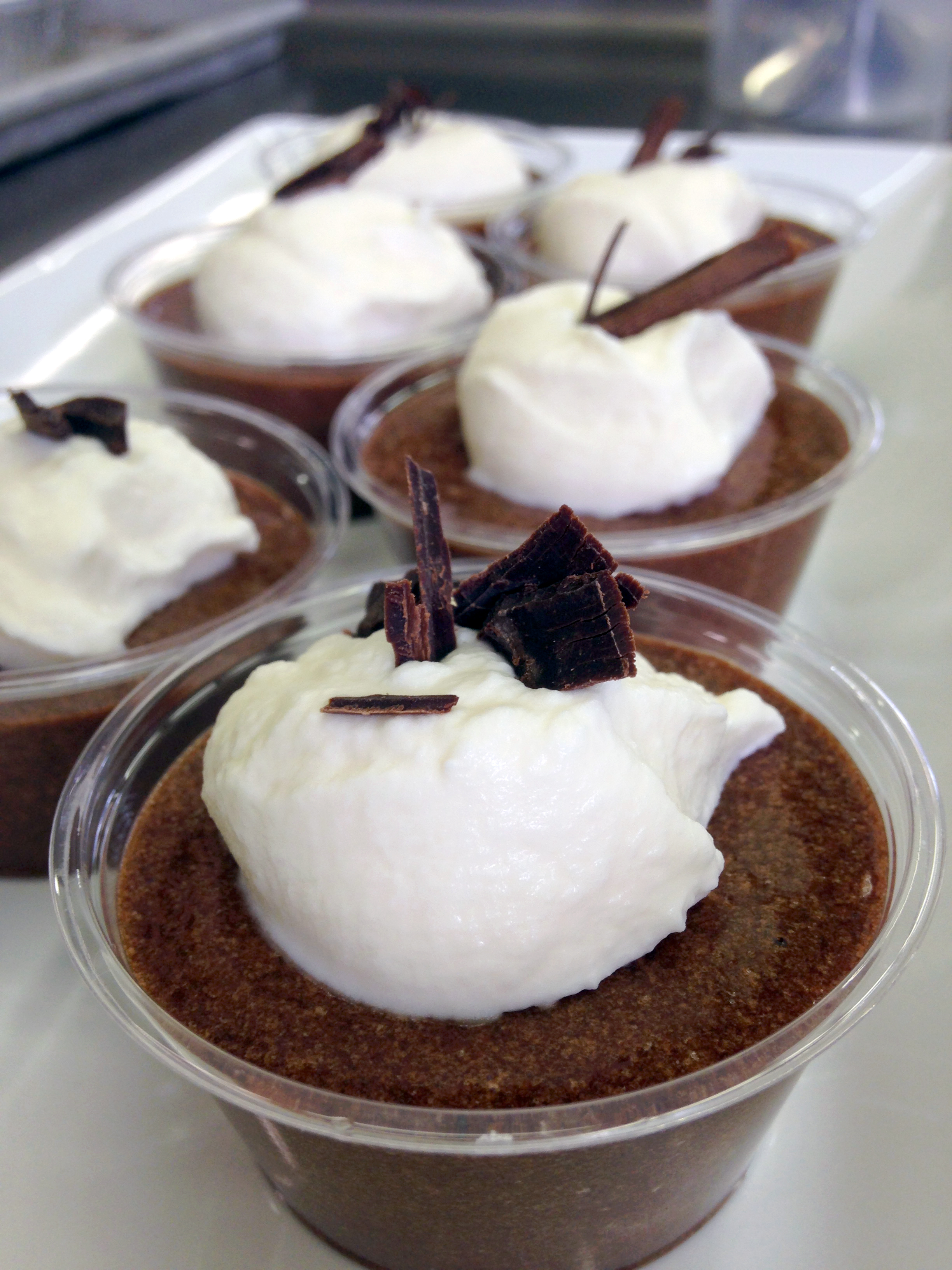 Little tastes of chocolate mousse made from Julia Child's recipe