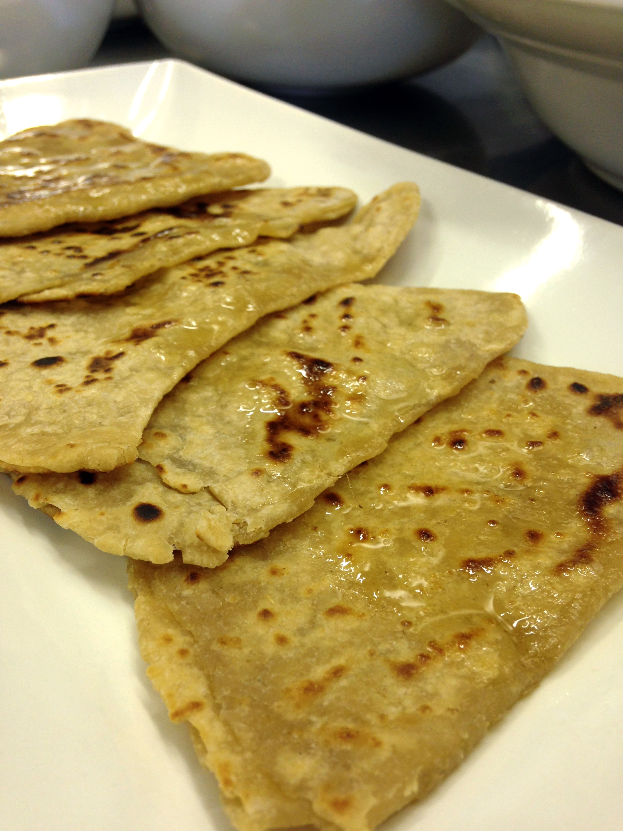 Freshly griddled paratha