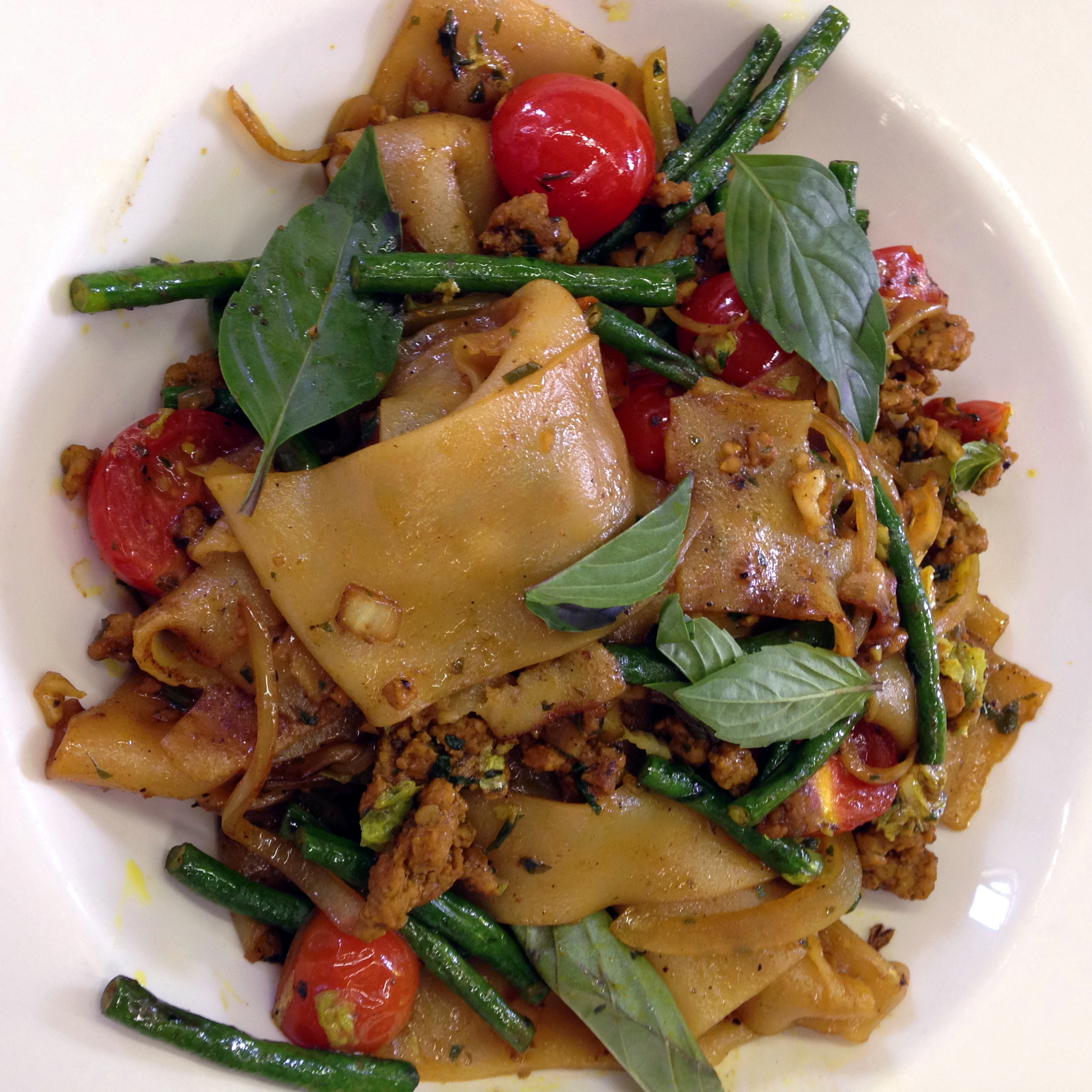 Thai-style drunken noodles made with Johnathan Taylor