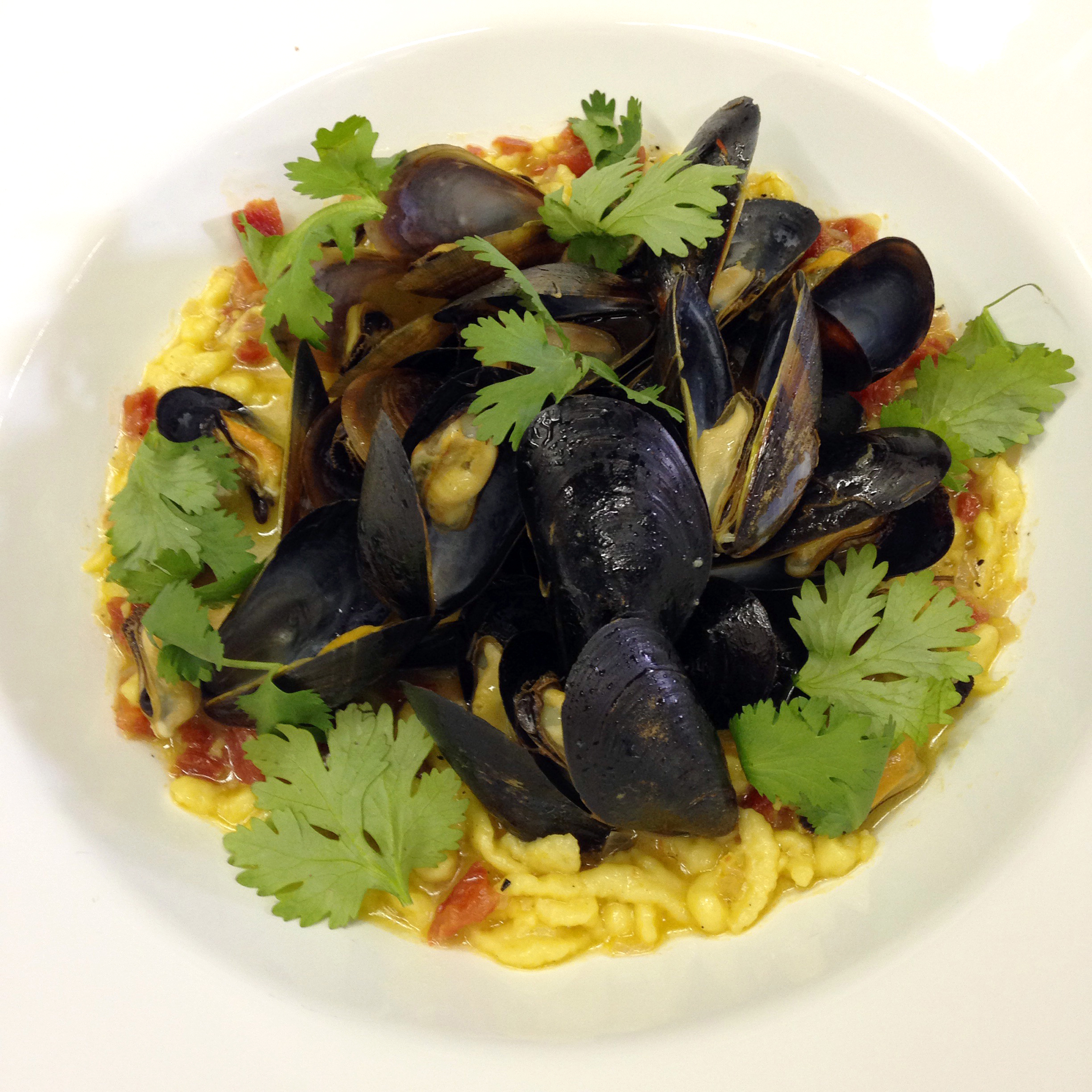 My world-fusion mussel appetizer