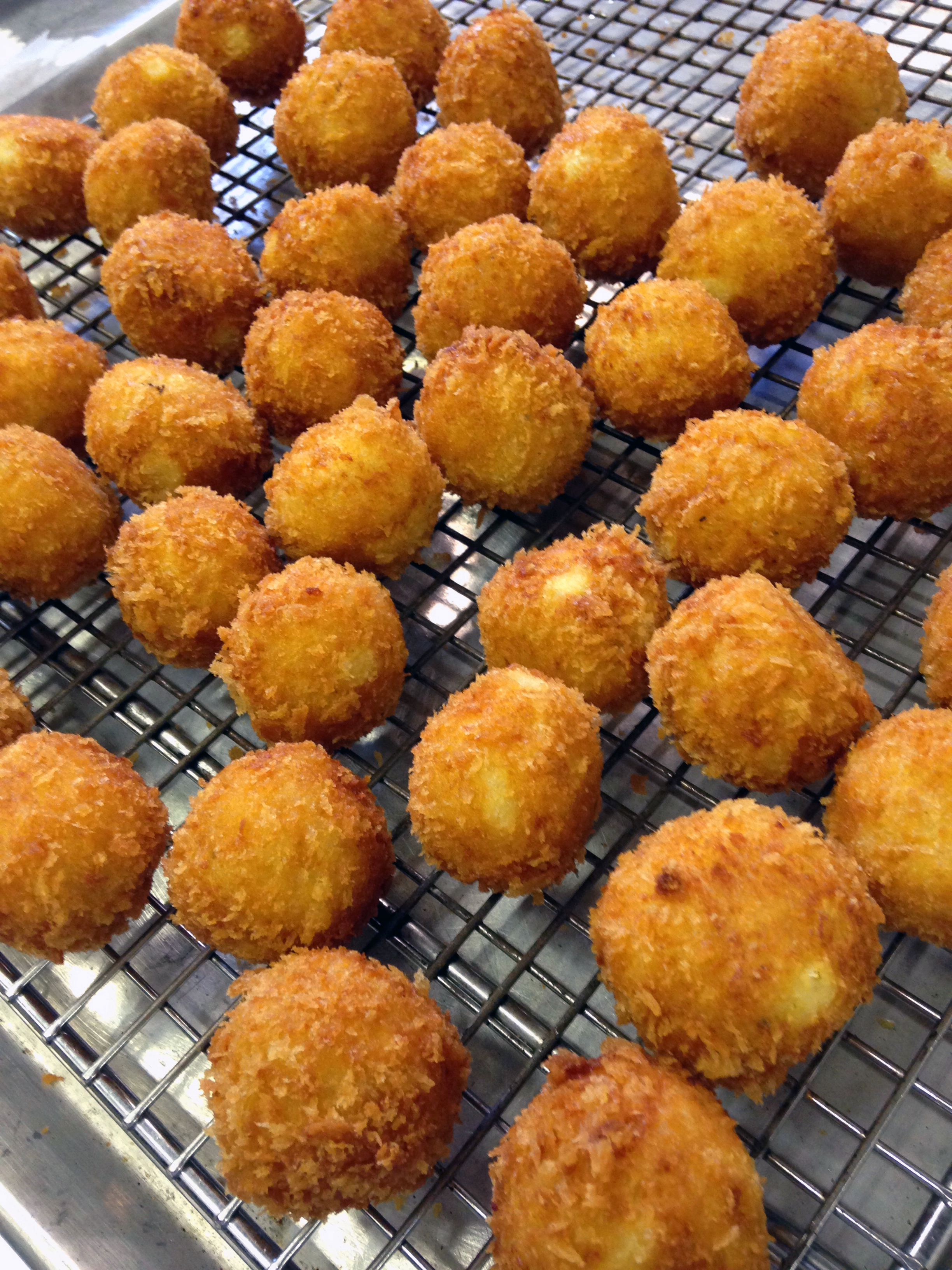 The mini arancini were a big hit