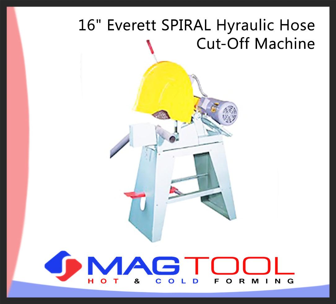 "16"" Everett SPIRAL Hyraulic Hose Cut-Off Machine"