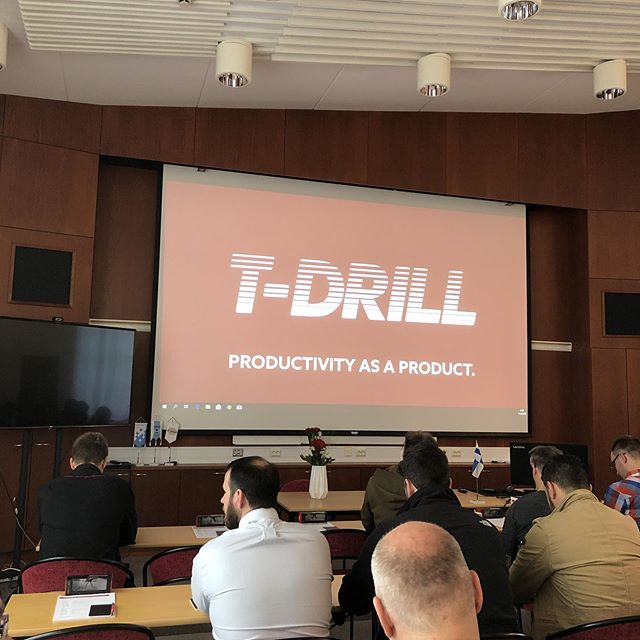 Here we go!!! Coffee fuelled up and ready to learn #tdrill #iiot #industry40