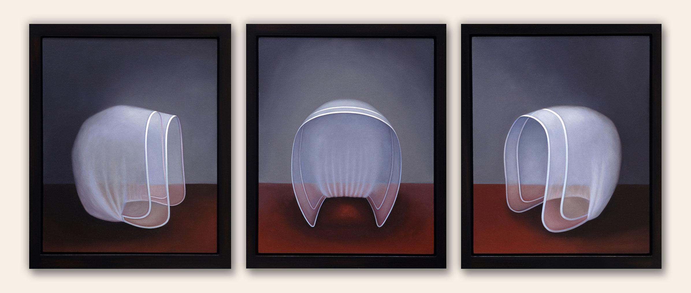Shaker Bonnets - triptych