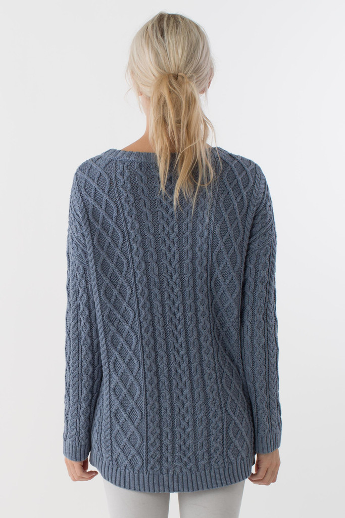 Cute shirttail detail on this sweater