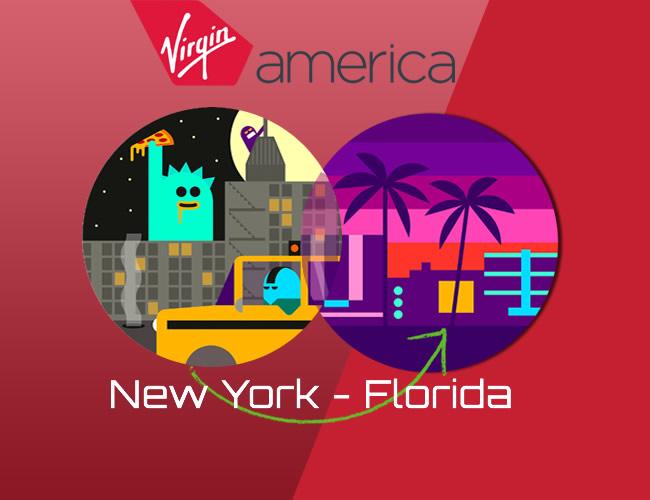 Virgin Amercia NYC to Florida
