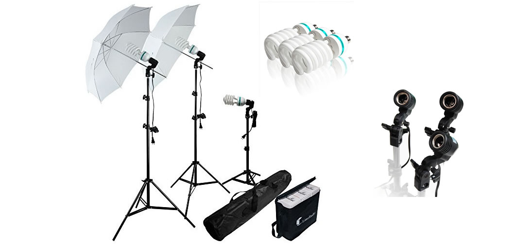Photo Studio 600W Day Light Umbrella Continuous Lighting Kit by LimoStudio-Photography